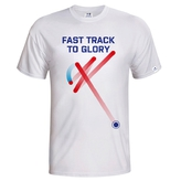 Kid´s T-shirt Fast track floorball - white
