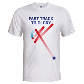 Kid´s T-shirt Fast track floorball - white + second t-shirt free