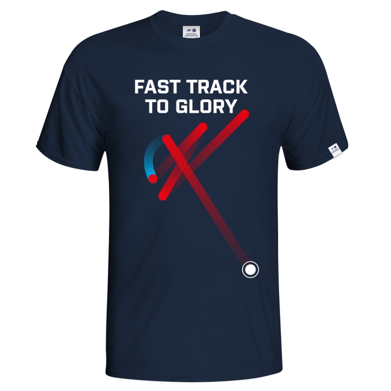 Kid´s T-shirt Fast track floorball - navy + kids' t-shirt Prague FREE
