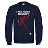 Kid´s sweatshirt basic fast track floorball + kids' t-shirt FTTG free