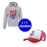 Men´s hoodie cut inscription Prague 2018 + red trucker FREE