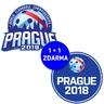 Sticker floorball Prague 2018 logo cupola + PRAGUE LOGO FREE