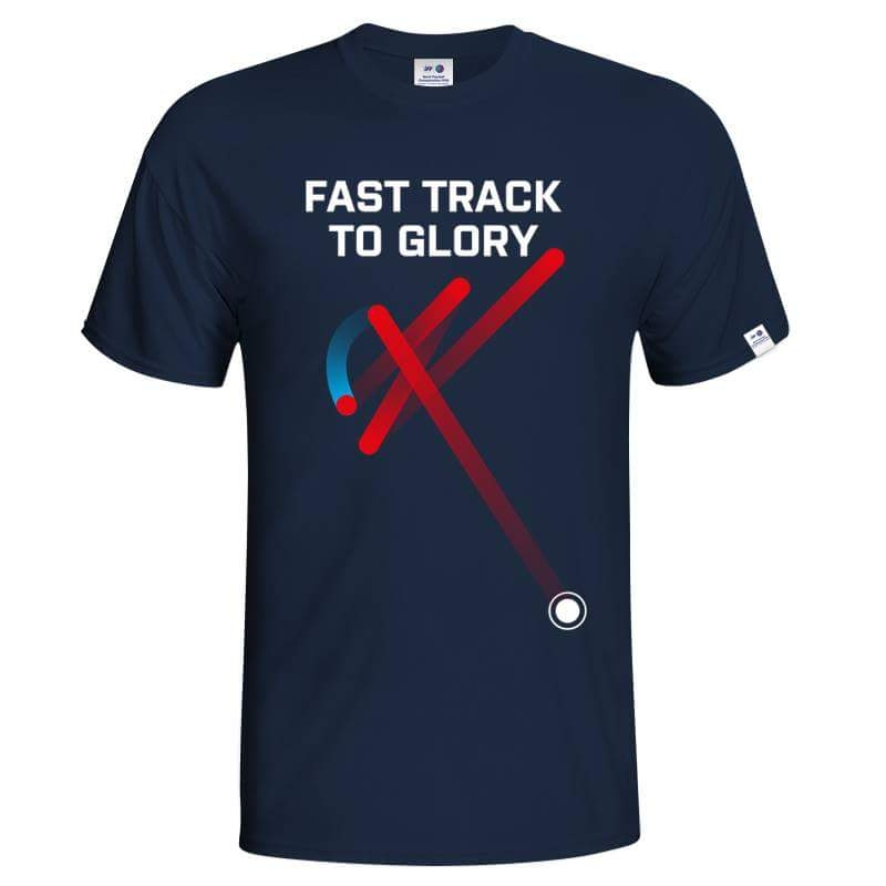 Men´s T-shirt Fast track floorball - navy