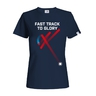 Women´s T-shirt Fast track floorball - navy + kids' t-shirt free