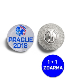 Badge with the Prague 2018 logo 1 + 1 free