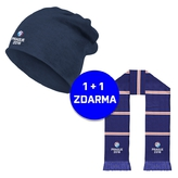 Kulich flash navy logo Prague 2018 + šála zdarma